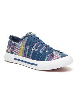 Rocket Dog Blue & Pink Patchwork Jokes Bridger Slip-on Sneaker - Women