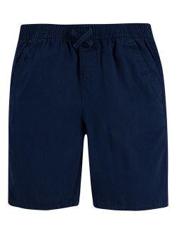 Dress Blues Box-Tab Pull-On Chino Shorts - Boys