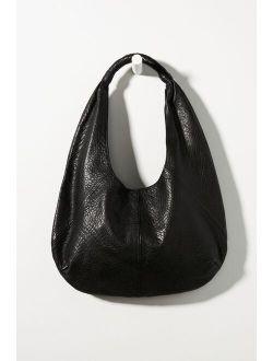 Pebbled Leather Slouchy Shoulder Bag