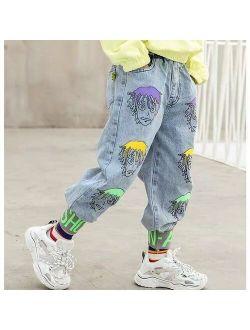 spring autumn Boys Jeans Baby Clothes Classic Pants Children Denim Clothing Boy Casual Bowboy Long Trousers 3-14Y