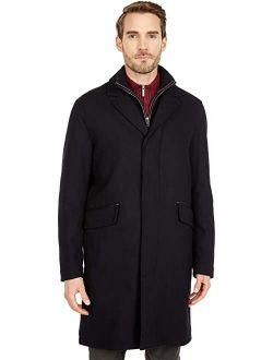 """39"""" Wool Twill Long Classic Topper Coat"""