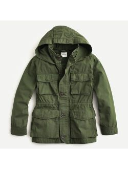 Boys' and Girls' garment-dyed M65 jacket and Coat