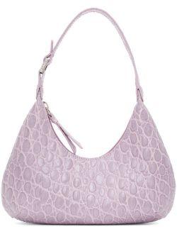 Purple Croc Baby Amber Bag