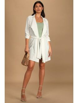 All About Style Ivory Belted Trench Coat