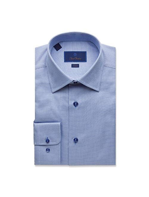 David Donahue Regular Fit Micro Tonal Tic Dress Shirt