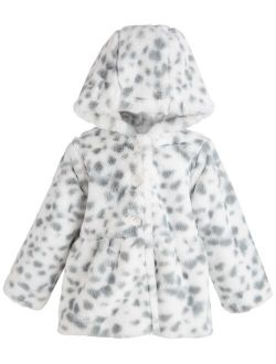 First Impressions Toddler Girls Snow Leopard Coat, Created for Macy's
