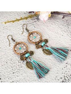 2020 Luxury Women Bohemian Ethnic Drop Earrings Vintage Boho Wedding Dangle Earrings Hanging for Women Jewelry Accessories