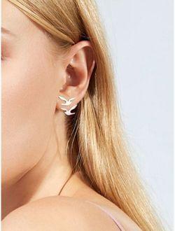 Double Bird Design Stud Earrings 1pair