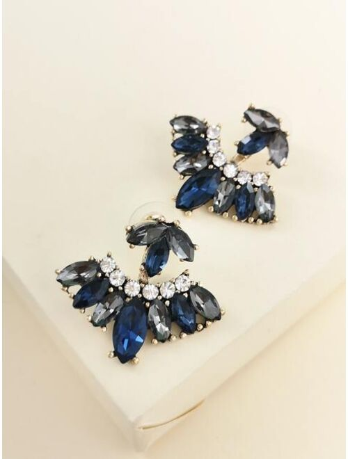 Shein Rhinestone Decor Earring Jackets