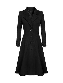 CELLABIE Black Flared Trench Coat - Women