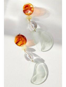 Glass Charm Drop Earrings