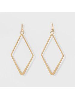 D Shape Drop Earrings - Universal Thread™ Gold