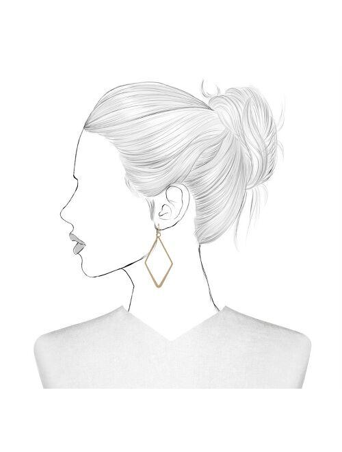 Open Work Diamond Shape Drop Earrings - Universal Thread™ Gold