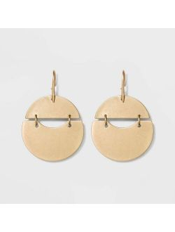 Op Earrings - Universal Thread™ Gold