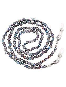 KAI Top Mask Lanyard Chain Face Mask Holder Chain Freshwater Pearl Eyeglasses Chain Sunglasses Chain for Women Girls Men
