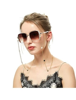 Eyeglass Chains for Women, 18K Gold Plated Sunglasses Glasses Chain Strap Lucky Flower