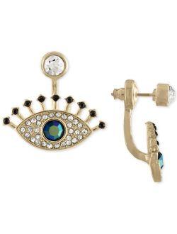 RACHEL Rachel Roy Gold-Tone Multi-Stone Eye Jacket Earrings
