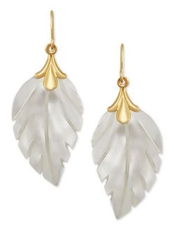 Macy's Leaf Earrings in 10k Gold