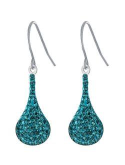 Giani Bernini Pave Crystal Wire Teardrop Earrings in Sterling Silver