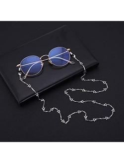 cooltime Five-Pointed Star Eyeglass Chain Holder Eyewear Accessories for Men Women