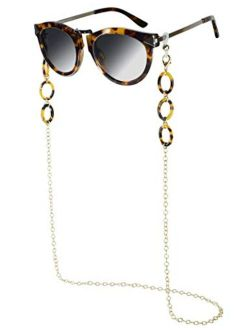 Tortoise Mask Chain Holder Acrylic Mask Lanyard for Mask Necklace Eyeglass Chains for Women, Sunglass Chain for Adults, Girls