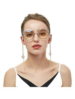 3Pcs Fahsion Mask Holder Cute Lanyard Anti-Lost Glasses Chain Necklace - Stainless Steel Mask Chain Eyeglass Chains Hanger Necklace Around Neck for Women Men