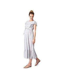 Seraphine Women's Maternity & Nursing Midi Dress Sage