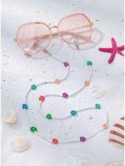 Flower Beaded Glasses Chain