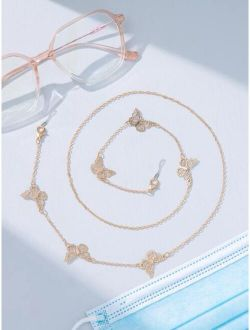 Butterfly Decor Glasses Chain