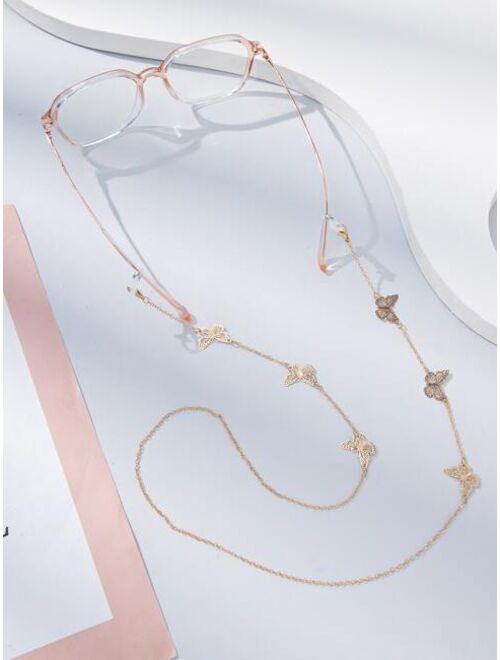 Shein Butterfly Decor Glasses Chain