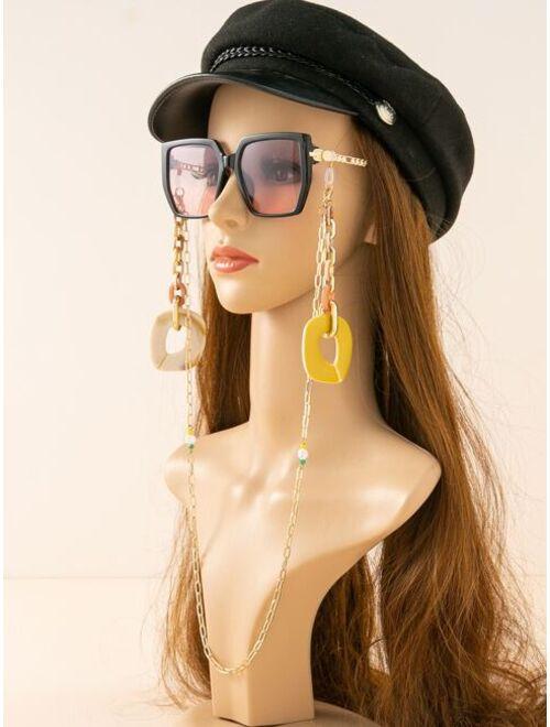 Shein Faux Pearl Decor Glasses Chain