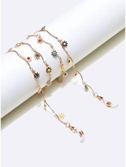 Flower Decor Glasses Chain