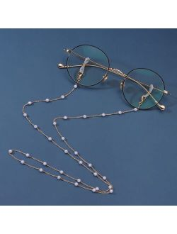 Fashion 2021 Women Pearl Gold Eyewear Chain Lanyard Strap Eye Glasses Ladies Sunglasses Chains Accessories Only Chain No Glasses