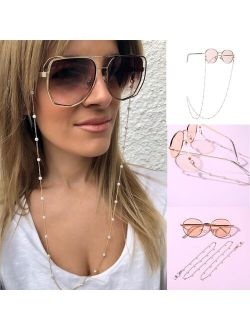 Anti-slip Sunglasses Lanyard Chains Cords Holder Fashionable Women Pearl Eyewear Anti-slip Glasses Part Neck Rope
