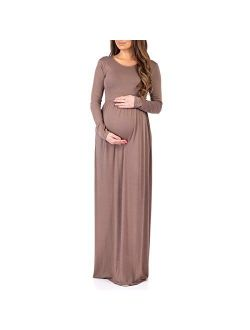Long Sleeve Womens Ruched Dress With Pockets By Rags And Couture