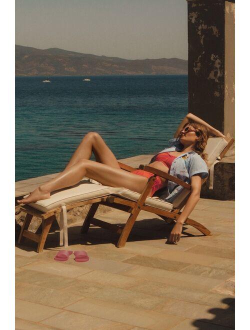 Maeve Paradise High-Waisted Bikini Bottoms