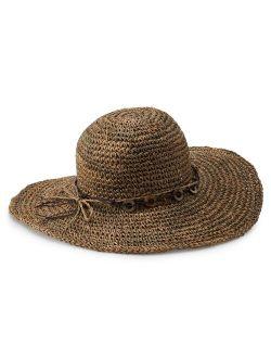 Women's Scala Crochet Floppy Hat