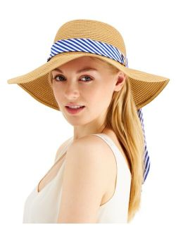 INC International Concepts Printed-Band Roll-Up Floppy Hat, Created for Macy's