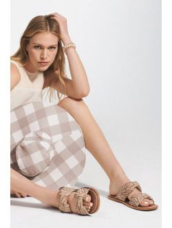 Vicenza Puffy Knotted Slider Sandals