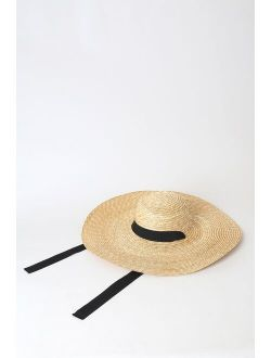 On the Playa Beige Oversized Straw Hat