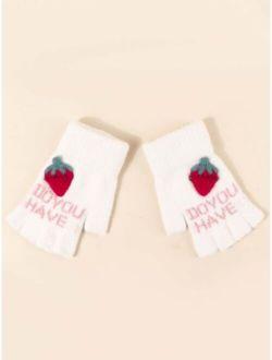 Toddler Kids Letter Graphic Gloves