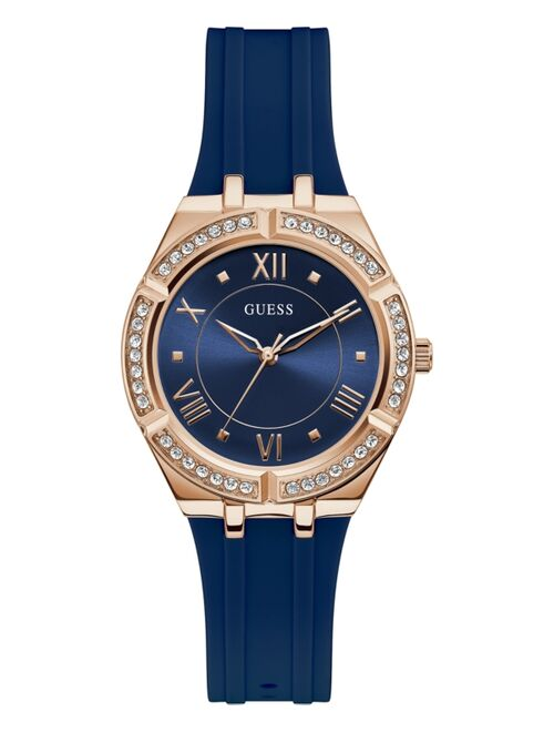 Guess Women's Blue Silicone Strap Watch 36mm