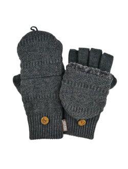Fairisle Sherpa-lined Convertible Flip-top Mittens - Men