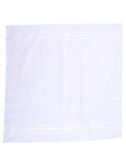 Van Heusen Handkerchiefs Bamboo Eco Friendly Extra Soft 13 Pack (White)