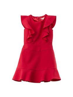 Girls Girl's Bonded Double Crepe Flounce Dress (big Kids)