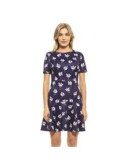 Women's ALEXIA ADMOR Monica Flounce-Hem Fit & Flare Dress