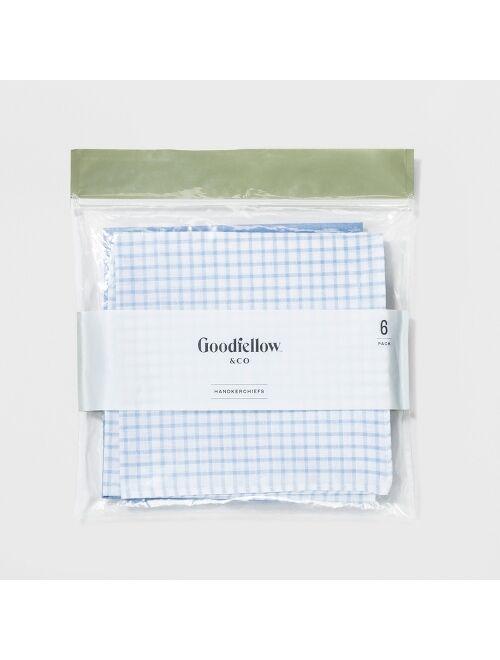 Men's 6pk Hankies and Handkerchiefs Set - Goodfellow & Co™ One Size