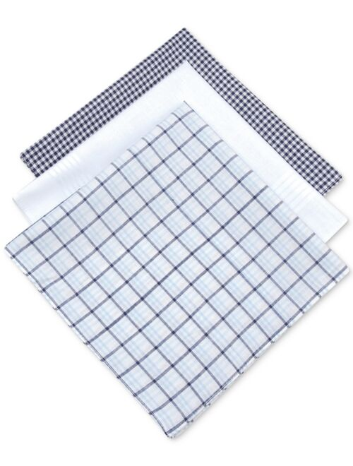 Club Room Men's 3-Pc. Check Handkerchief Set, Created for Macy's