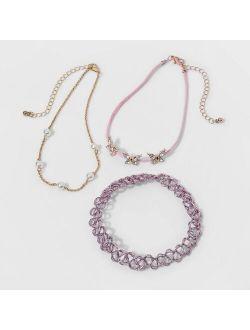 Etch Choker Butterfly Necklace - Cat & Jack™ Gold