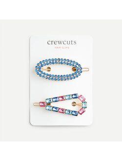 Girls' beaded hair clip two-pack